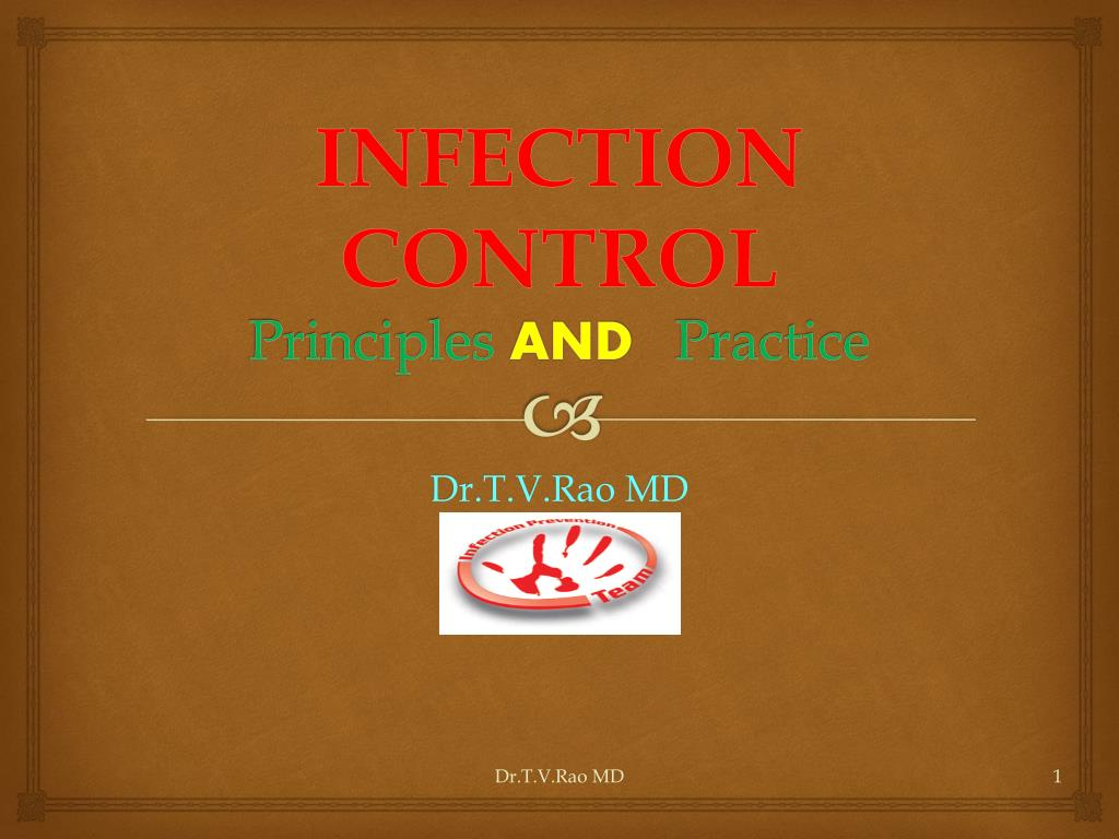 infection control principles and practice l.