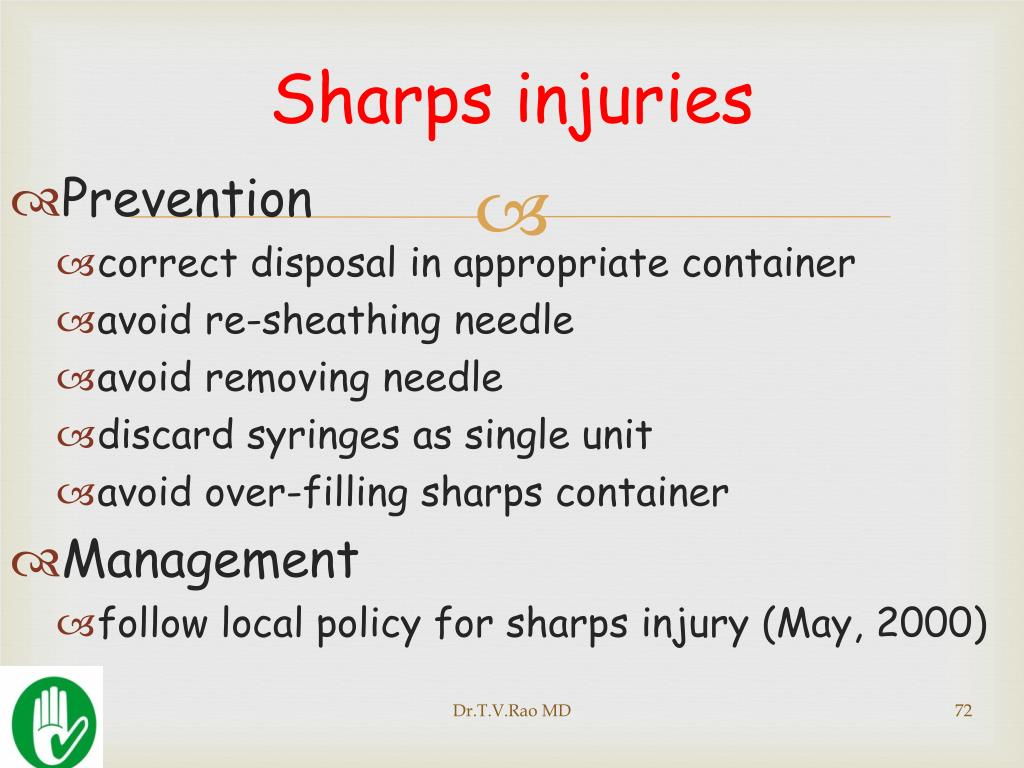 Sharps injuries