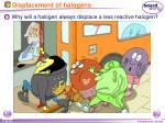 displacement of halogens