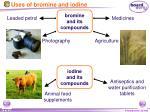uses of bromine and iodine