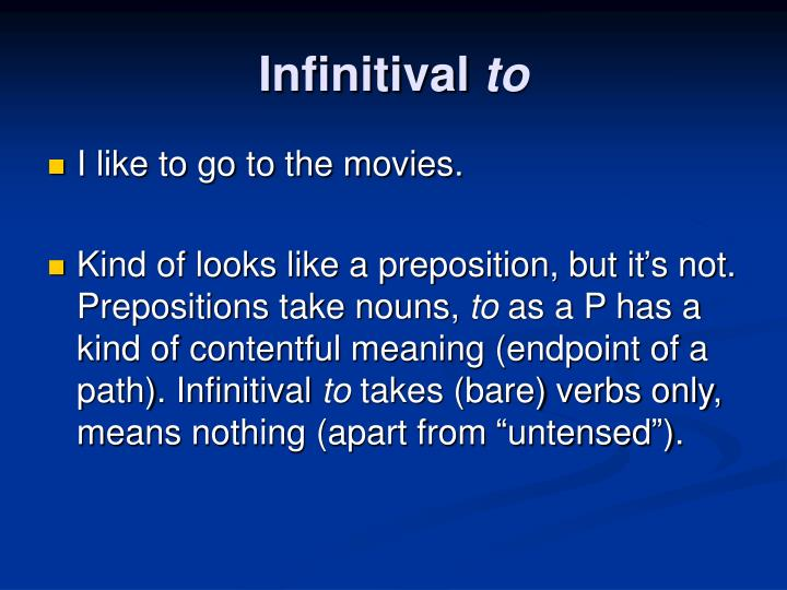 Infinitival