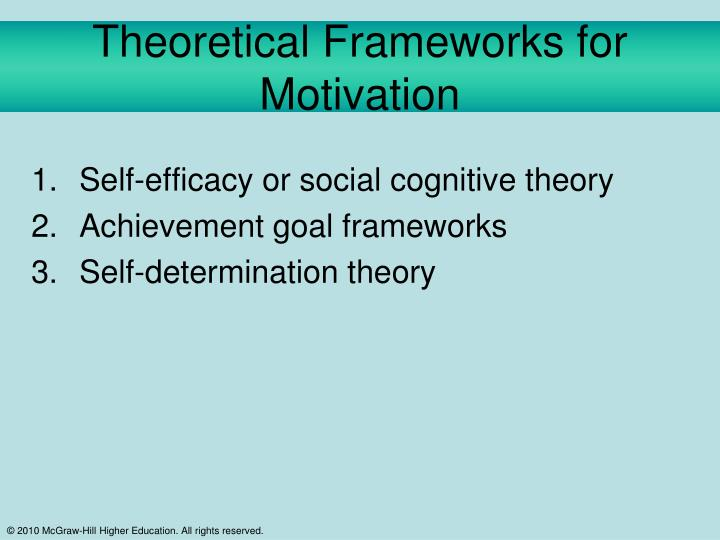 Theoretical Frameworks for Motivation