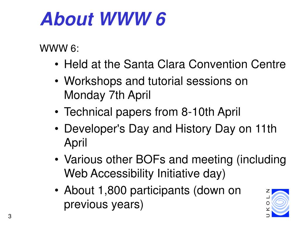 About WWW 6