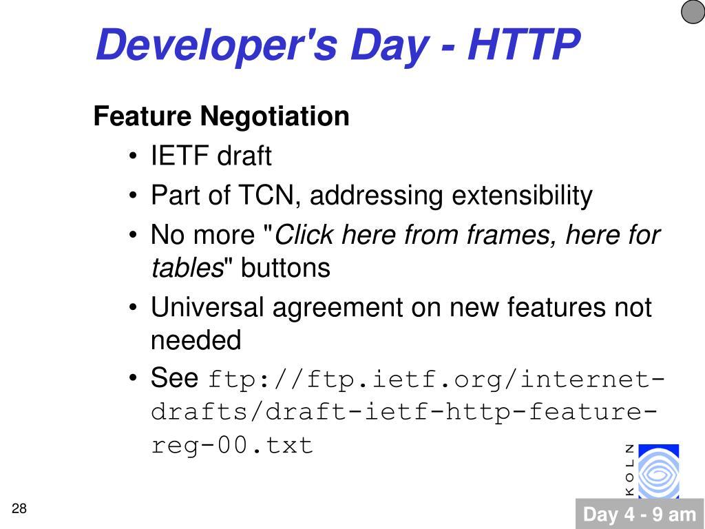 Developer's Day - HTTP