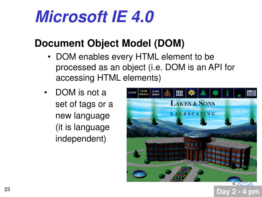 Microsoft IE 4.0