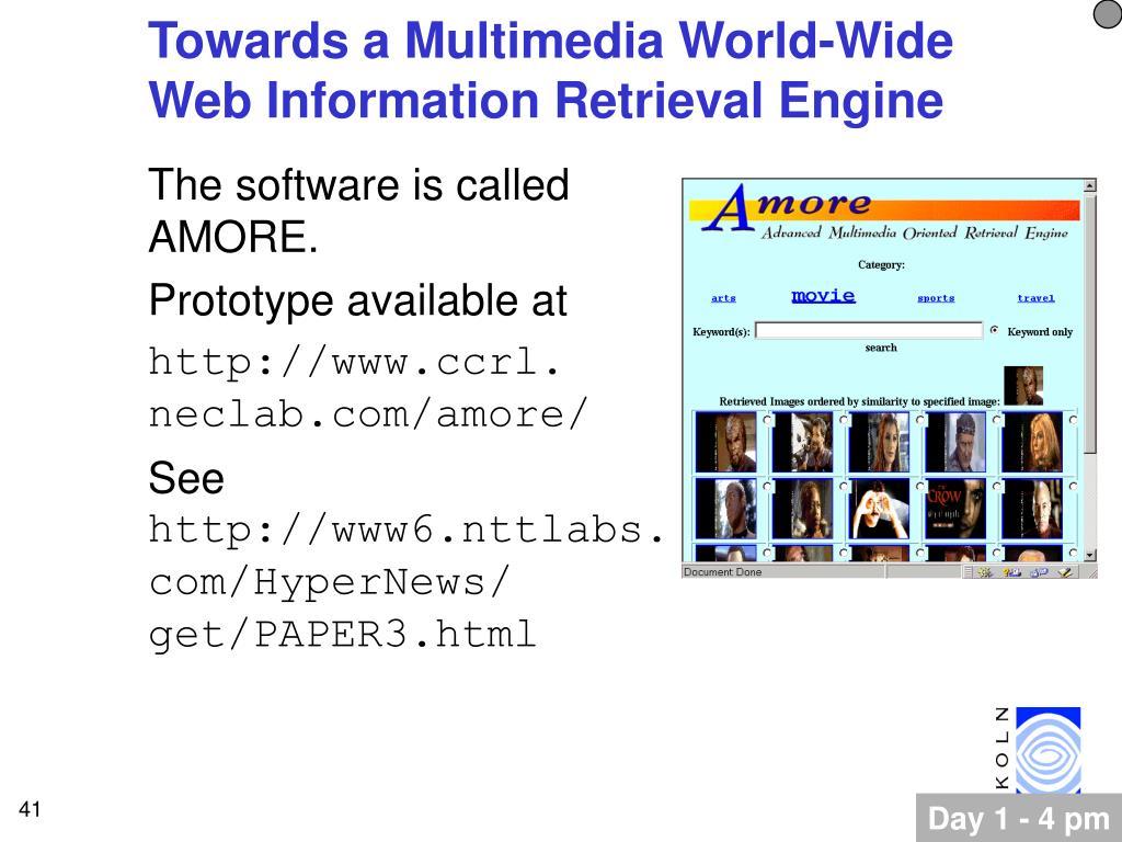 Towards a Multimedia World-Wide Web Information Retrieval Engine