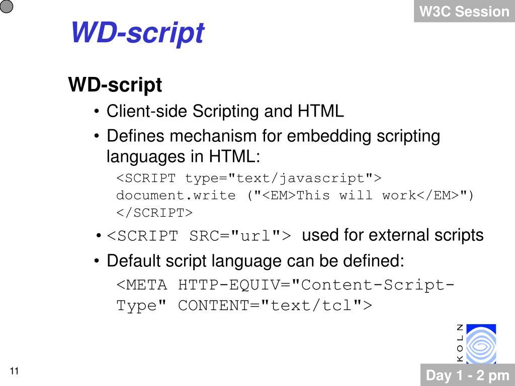 W3C Session