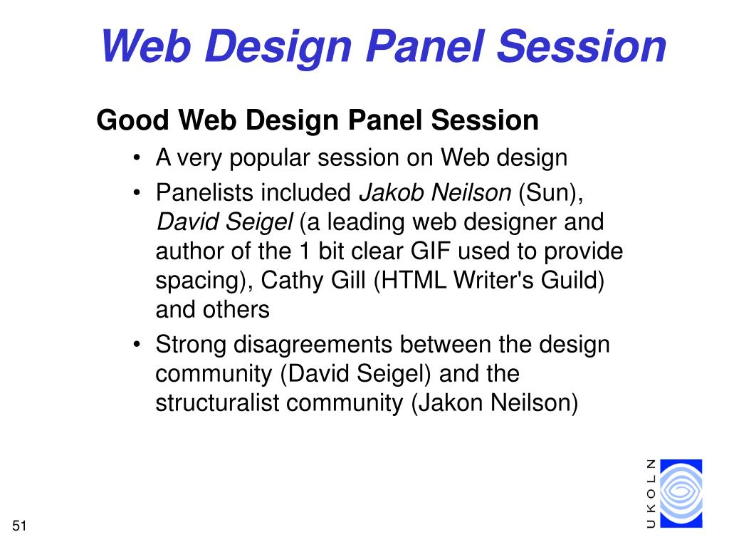 Web Design Panel Session