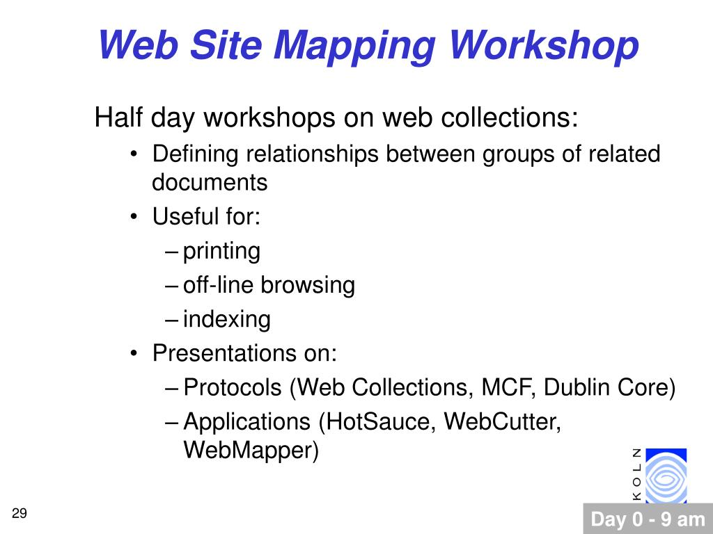 Web Site Mapping Workshop