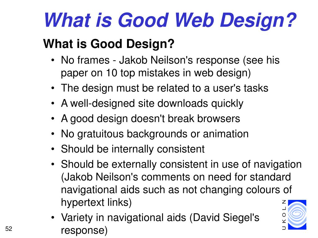 What is Good Web Design?
