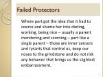 failed protectors