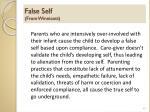 false self from winnicott