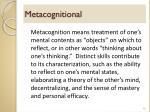 metacognitional