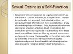 sexual desire as a self function