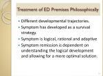treatment of ed premises philosophically