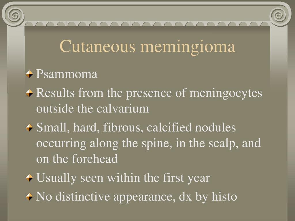 Cutaneous memingioma