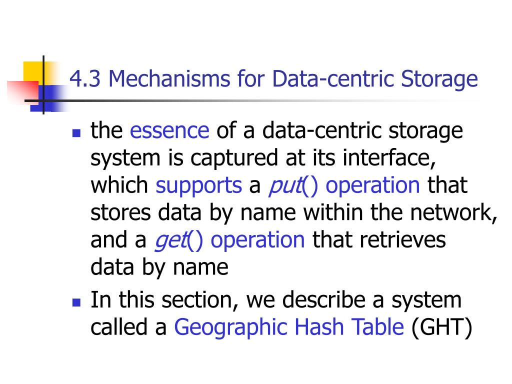 4.3 Mechanisms for Data-centric Storage