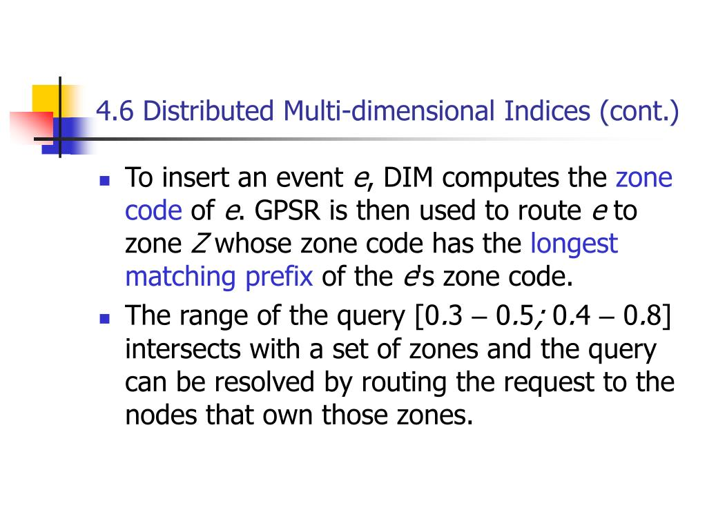 4.6 Distributed Multi-dimensional Indices