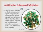 antibiotics advanced medicine