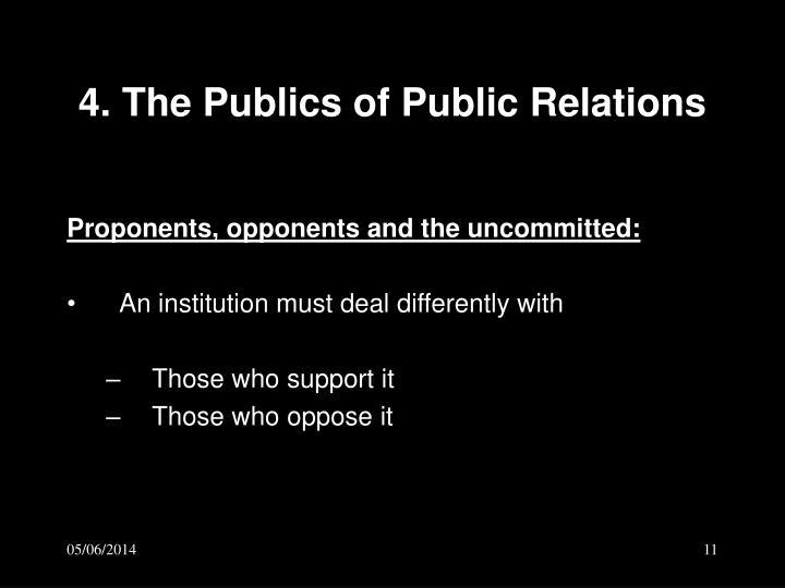 4. The Publics of Public Relations