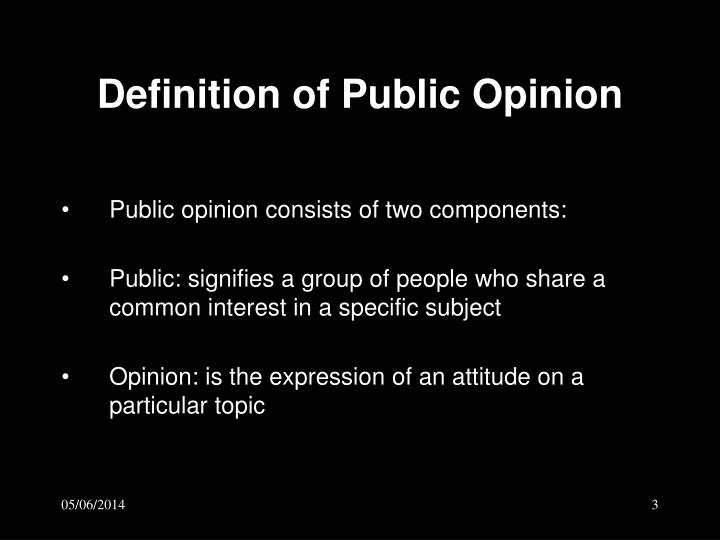 Definition of public opinion