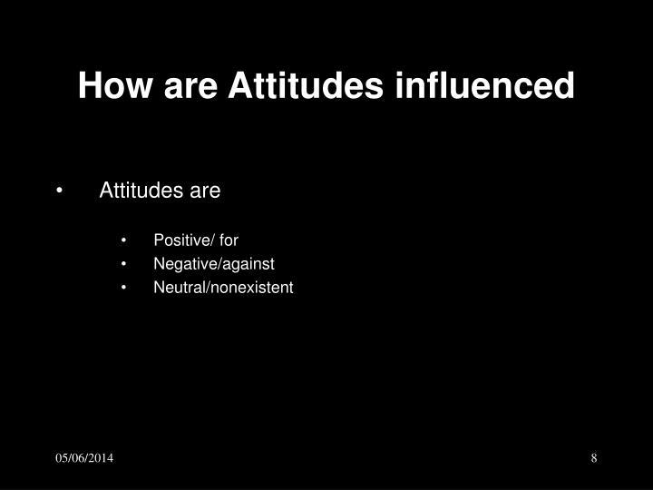 How are Attitudes influenced