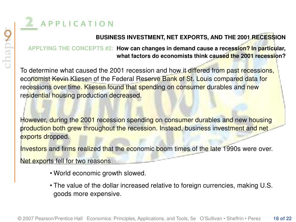 BUSINESS INVESTMENT, NET EXPORTS, AND THE 2001 RECESSION