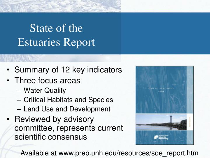 State of the Estuaries Report