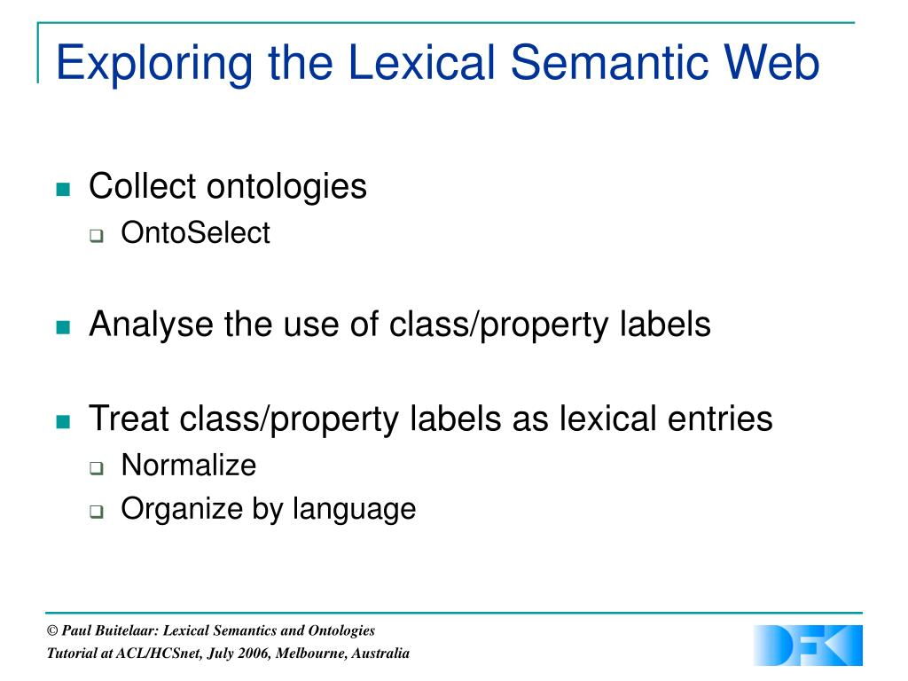 Exploring the Lexical Semantic Web