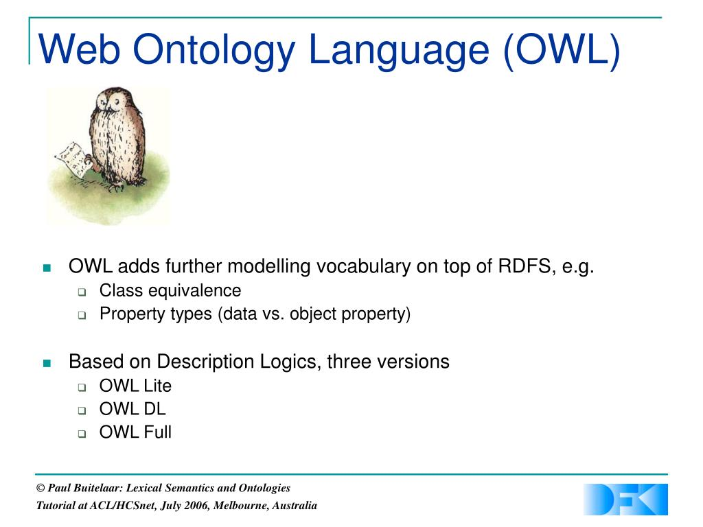 Web Ontology Language (OWL)