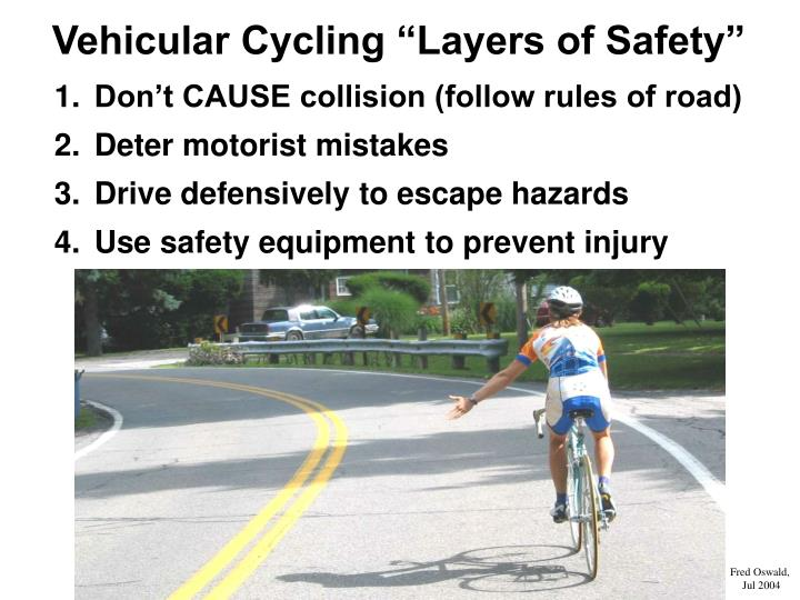 "Vehicular Cycling ""Layers of Safety"""