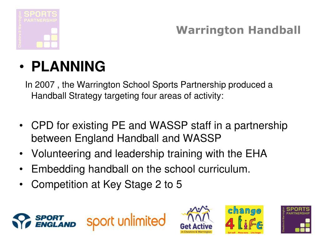 warrington handball l.