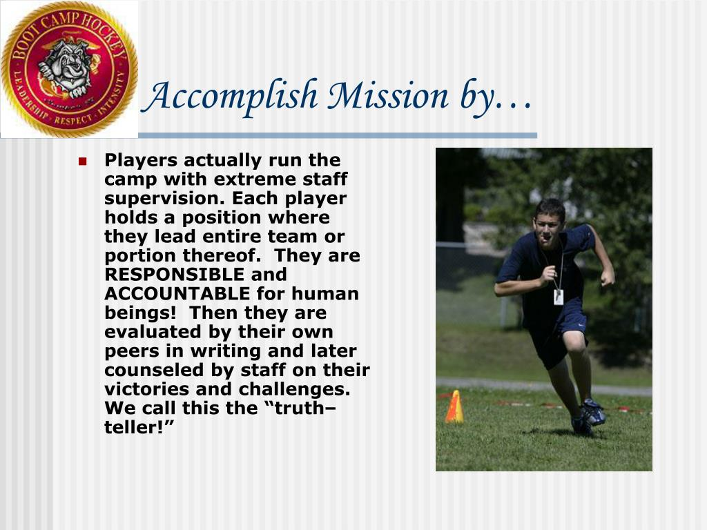 Accomplish Mission by…