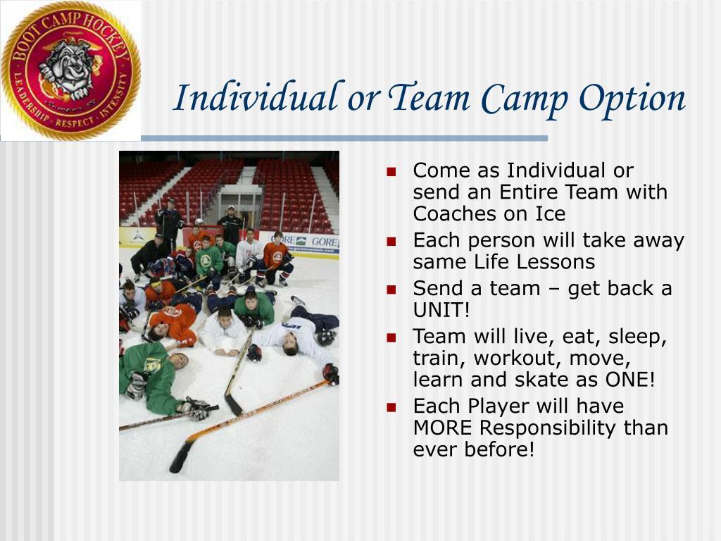Individual or Team Camp Option