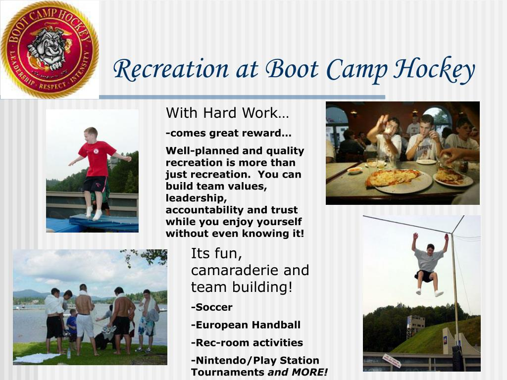 Recreation at Boot Camp Hockey