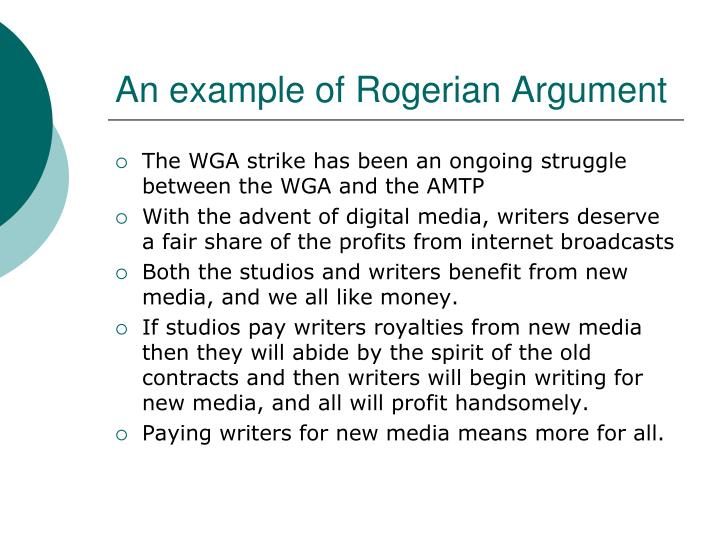 An example of Rogerian Argument