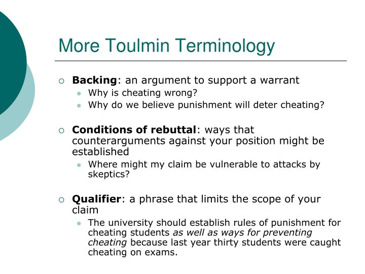 More Toulmin Terminology