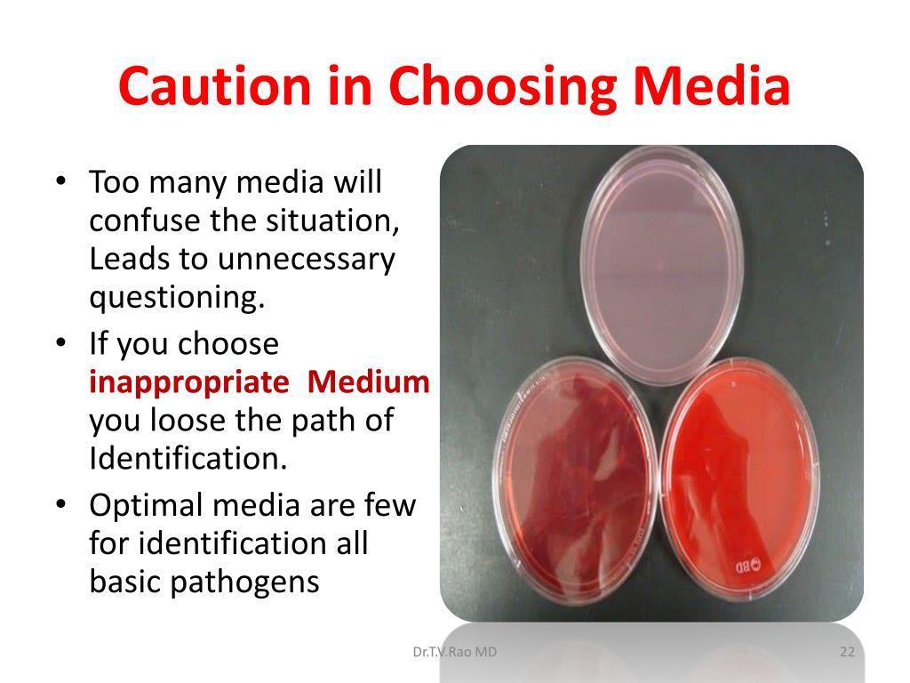 Caution in Choosing Media