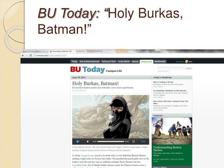 """BU Today: """""""