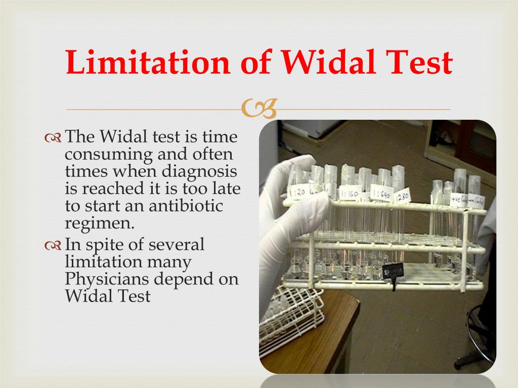 Limitation of Widal Test