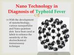 nano technology in diagnosis of typhoid fever