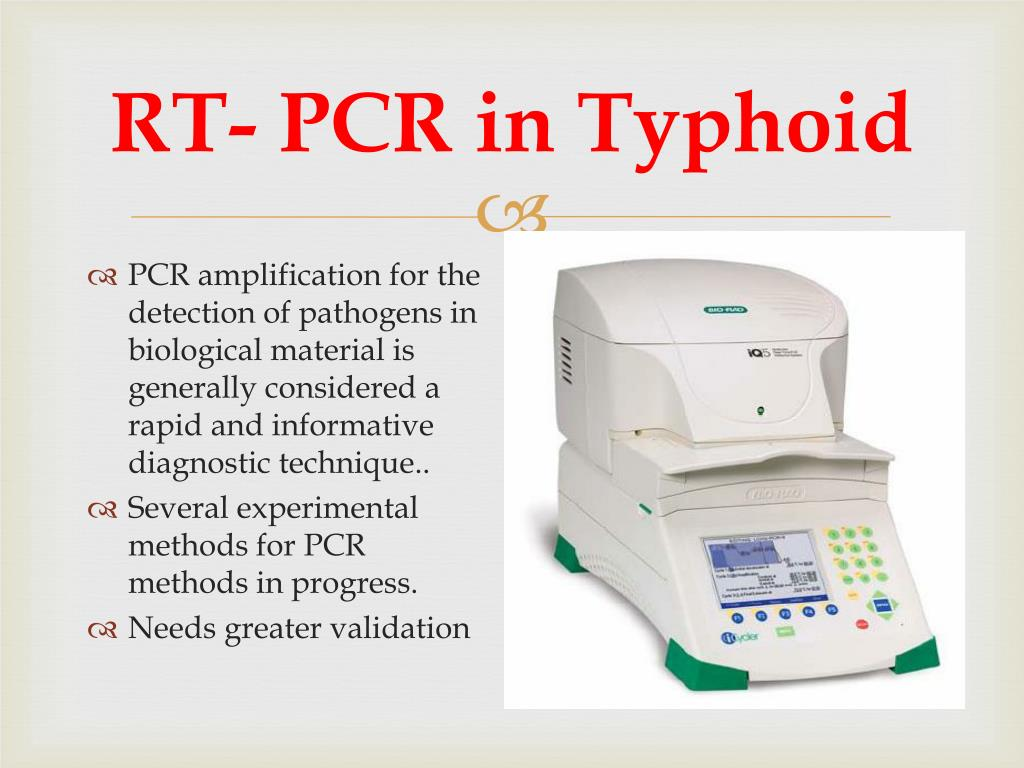 RT- PCR in Typhoid