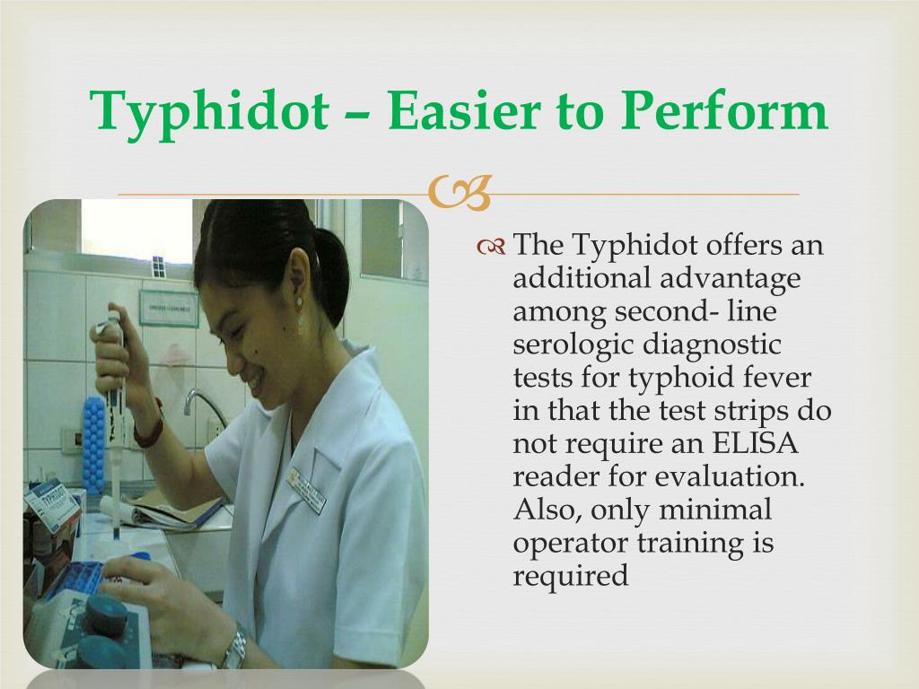 Typhidot – Easier to Perform