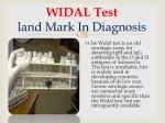 widal test land mark in diagnosis