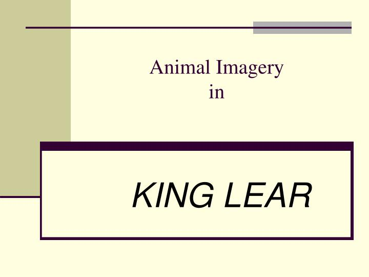 king lear animal imagery essay In his essay on king lear  an evolutionary approach to shakespeare's king lear 95 familyindd 95 on the animal imagery.