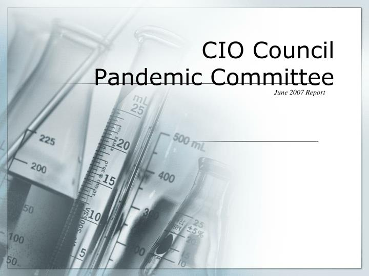 cio council pandemic committee n.
