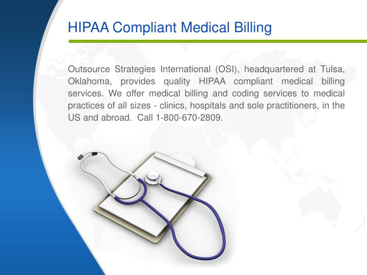 Hipaa compliant medical billing