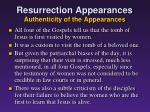 resurrection appearances authenticity of the appearances1