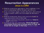 resurrection appearances jesus is lord