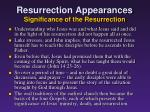 resurrection appearances significance of the resurrection
